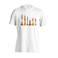 Camisetas de ajedrez - Blanca