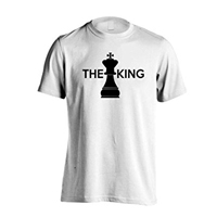 Camisetas de ajedrez - blanca con rey