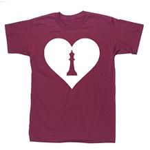 Camisetas de Ajedrez - Love morada