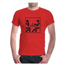 camiseta de ajedrez roja