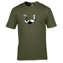 Camisetas de ajedrez - verde hombre