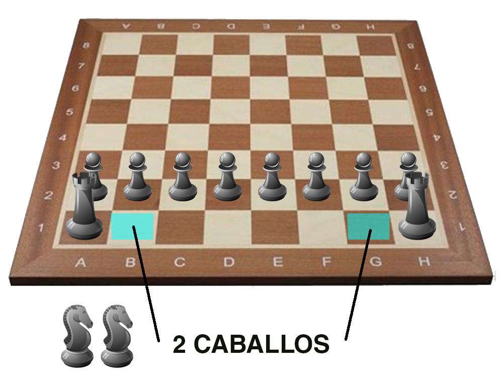 colocacion ajedrez - caballos