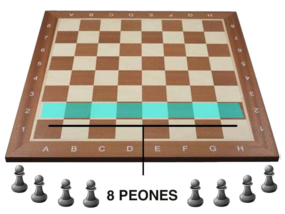 colocacion ajedrez - Peones