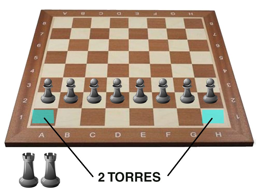 colocacion ajedrez - Torres
