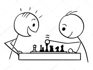 Dibujos de ajedrez para colorear jaque mate