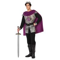 Disfraz de rey adulto purpura