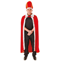 Disfraz de rey adulto rojo