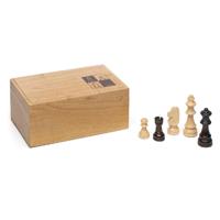 Piezas del ajedrez madera caja