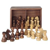 Piezas de ajedrez madera calidad