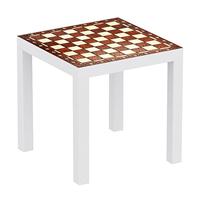 Vinilo ajedrez mesa marron