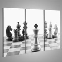 Cuadros de ajedrez moderno gris