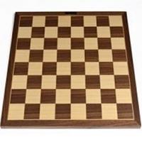 Tablero de ajedrez sin piezas madera