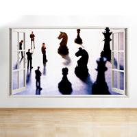 Vinilo de ajedrez - habitacion 3