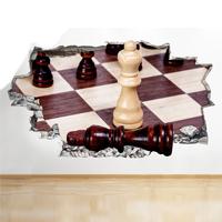 Vinilo de ajedrez - Habitación
