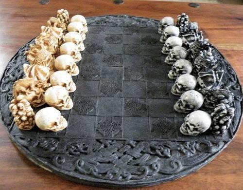 ajedrez artesanal gotico