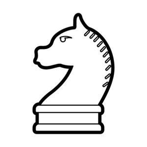 caballo ajedrez para colorear