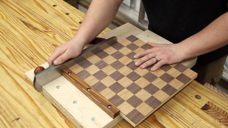 tablero ajedrez artesanal madera jays