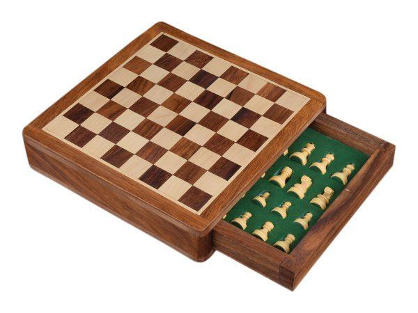 tablero ajedrez de madera